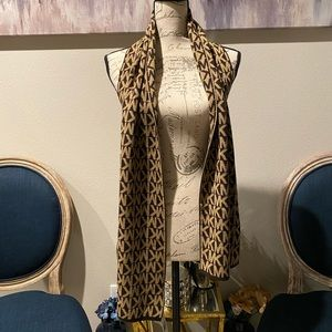 MICHAEL KORS SCARF BROWN/TAN O/S NWT